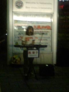 浜松駅にて奥華子さんが路上ライブ
